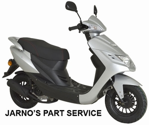 TURBHO CD-50 SNOR-SCOOTER ZILVER 25KM