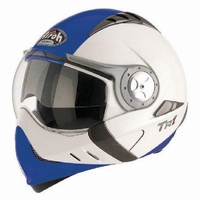 HELM AIROH TR1 STREETFIGTHER BLAUW/WIT L