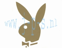 STICKER PLAYBOY MIDDEL GOUD