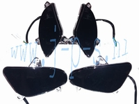 KNIPPERLICHTSET  RL/VX/LUX/RIVA  4 DELIG ZWART-SMOKE