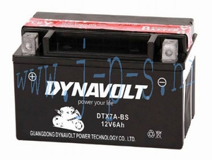 ACCU 7 AH/12VOLT / YTX7A-BS DYNAVOLT (CHINA SCOOTER)